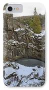Frozen Sink Hole IPhone Case by Roderick Bley