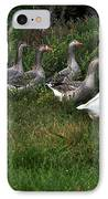 Gaggle Of Geese IPhone Case by Kaye Menner