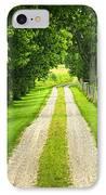 Green Farm Road IPhone Case by Elena Elisseeva