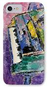 Green Piano Side View IPhone Case by Anita Burgermeister