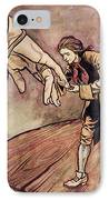 Gulliver In Brobdingnag Kissing The Hand Of The Queen IPhone Case by Arthur Rackham