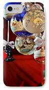 Handcrafted Mouth Blown Christmas Glass Balls IPhone Case by Christine Till