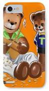 Happy Fathers Day IPhone Case by William Francis Phillipps