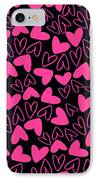 Hearts IPhone Case by Louisa Knight
