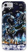 Horses Frolic On A Starlit Night IPhone Case by Carol Law Conklin