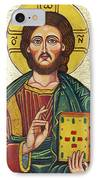 Icon Of Jesus As Christ Pantocrator IPhone Case by Ion vincent DAnu