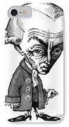 Immanuel Kant, Caricature IPhone Case by Gary Brown