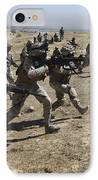 Iraqi Army Soldiers Move To Positions IPhone Case by Stocktrek Images