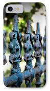 Iron Fence IPhone Case by Perry Webster