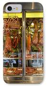 Italian Market Butcher Shop IPhone Case by John Greim