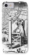 Johannes Hevelius And His Assistant IPhone Case by Science Source