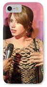 Kalki Koechlin Animated IPhone Case by Kantilal Patel