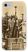 La Rogativa Sculpture Old San Juan Puerto Rico Rustic IPhone Case by Shawn O'Brien