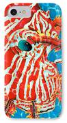 Lion Fish Face IPhone Case by Daniel Jean-Baptiste