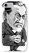 Louis Pasteur, Caricature IPhone Case by Gary Brown