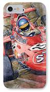 March 711 Ford Ronnie Peterson Gp Italia 1971 IPhone Case by Yuriy  Shevchuk