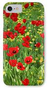 Meadow With Tulips IPhone Case by Elena Elisseeva