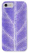 Monotone Close Up Of Leaf IPhone Case by Sean White