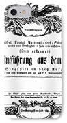 Mozart: Seraglio, 1782 IPhone Case by Granger