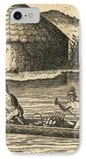 Native Americans Transporting Crops IPhone Case by Photo Researchers