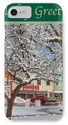 New England Christmas IPhone Case by Joann Vitali