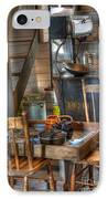 Nostalgia Country Kitchen IPhone Case by Bob Christopher