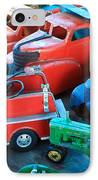Old Tin Toys IPhone Case by Steve McKinzie