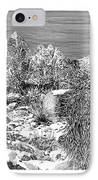 Organ Mountain Wintertime IPhone Case by Jack Pumphrey