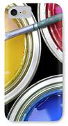 Paint Cans IPhone Case by Carlos Caetano