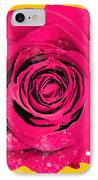 Painting Of Single Rose IPhone Case by Setsiri Silapasuwanchai