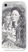 Pakistani Mother And Child IPhone Case by John Keaton