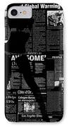Paper Dance 2 IPhone Case by Naxart Studio