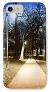 Park Path At Night IPhone Case by Elena Elisseeva
