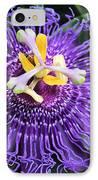 Passionflower Purple IPhone Case by Rosalie Scanlon