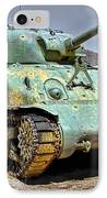 Patton M4 Sherman IPhone Case by Jason Abando