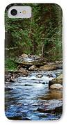 Peaceful Mountain River IPhone Case by Lisa Holmgreen