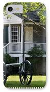 Peers House And Cannon Appomattox Court House Virginia IPhone Case by Teresa Mucha