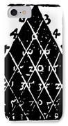 Petrus Apianus's Pascal's Triangle, 1527 IPhone Case by Dr Jeremy Burgess