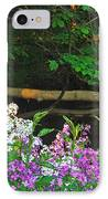 Phlox Along The Creek 7185 IPhone Case by Michael Peychich
