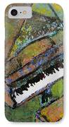 Piano Aqua Wall - Cropped IPhone Case by Anita Burgermeister