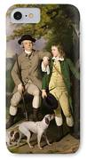 Portrait Of A Sportsman With His Son IPhone Case by Francis Wheatley