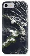 Rabaul Volcano On The Island Of Papua IPhone Case by Stocktrek Images