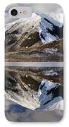 Reflection In Lake Pearson, Castle Hill IPhone Case by Colin Monteath