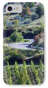 Road Winding Through Vineyard And Olive Trees IPhone Case by Jeremy Woodhouse