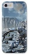 Robots Gathering Rich Mineral Deposits IPhone Case by Mark Stevenson