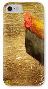 Rooster Farm IPhone Case by Yvon van der Wijk