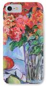 Roses And Peaches IPhone Case by Carol Mangano