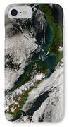 Satellite View Of New Zealand IPhone Case by Stocktrek Images