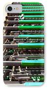 Shopping Carts Stacked Together IPhone Case by Skip Nall