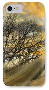 Skeletons At Sunset IPhone Case by Debra and Dave Vanderlaan